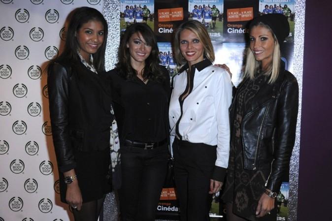 Chloé Mortaud, Rachel Legrain-Trapani, Sylvie Tellier et Alexandra Rosenfeld à l'avant-première des Seigneurs à Paris le 25 septembre 2012