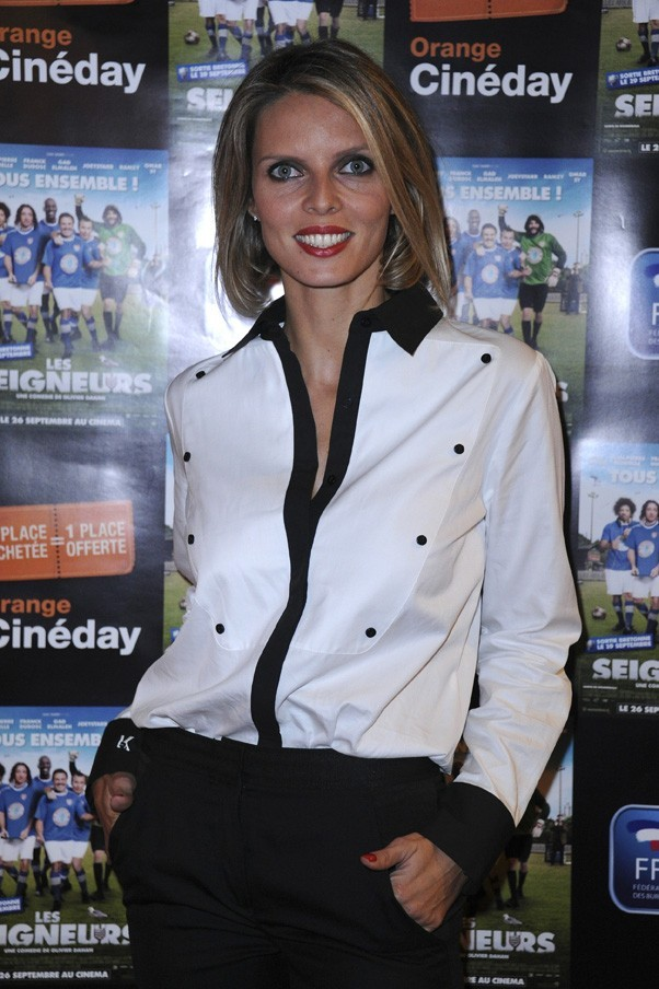 Sylvie Tellier à l'avant-première des Seigneurs à Paris le 25 septembre 2012