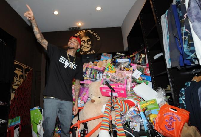 Chris Brown à Los Angeles le 22 décembre 2013