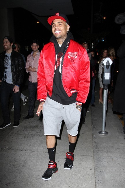 Chris Brown à la sortie du Bootsy Bellows à Los Angeles, le 20 janvier 2013.