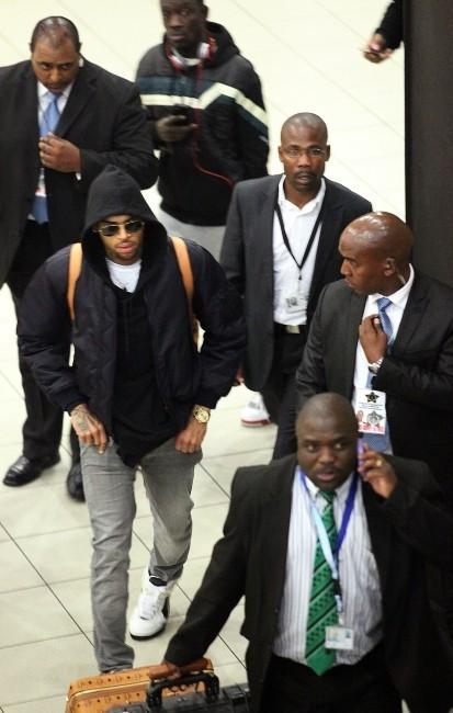 Chris Brown le 15 décembre 2012 à Johannesburg