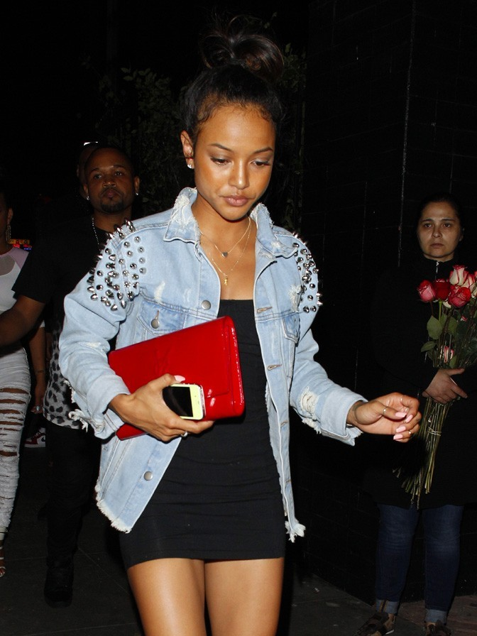 Karrueche Tran à l'anniversaire de Chris Brown à Hollywood le 3 mai 2013