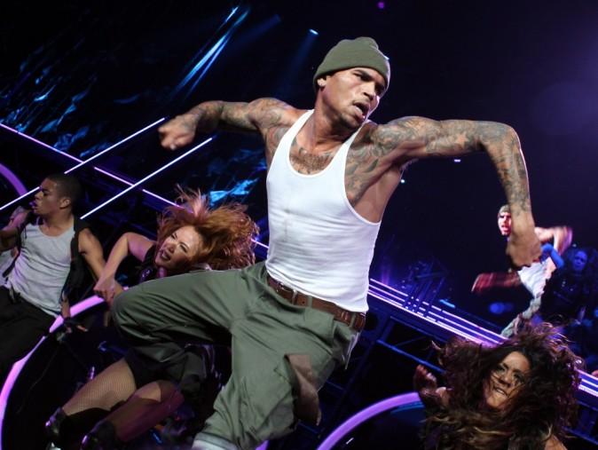 Chris Brown en concert à Miami, le 5 octobre 2011.