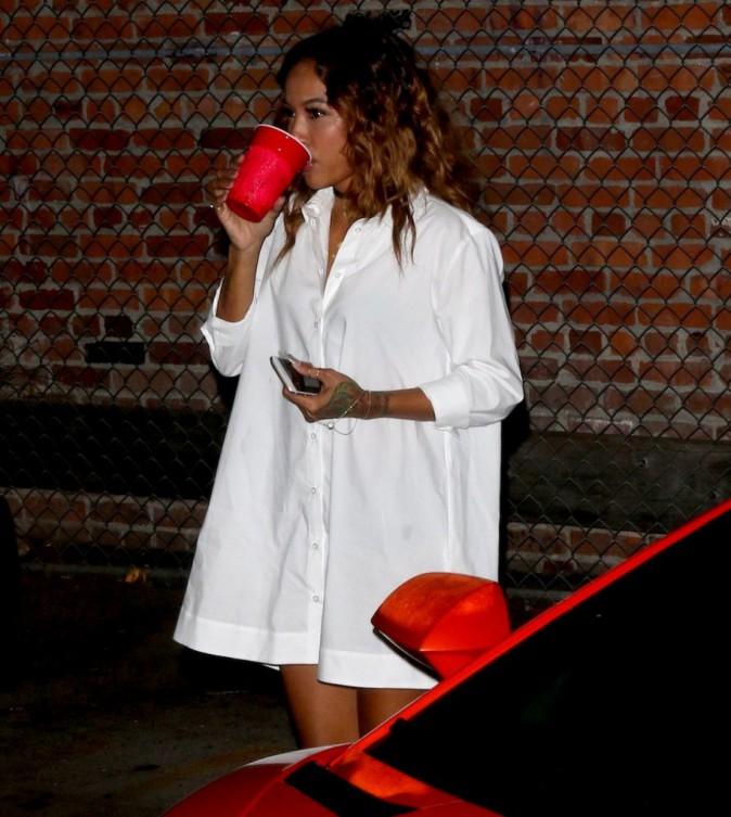 """Photos : Chris Brown : """"in love"""" de Karrueche Tran à l'anniversaire de Christina Milian !"""
