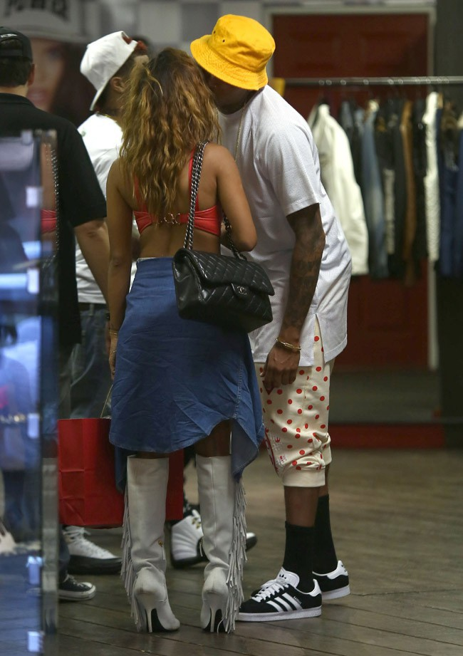 Chris Brown et Karrueche Tran à Los Angeles le 16 septembre 2014