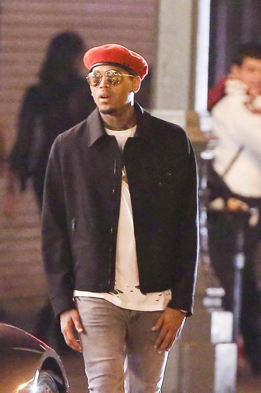 Chris Brown sur le tournage de son nouveau clip à Los Angeles le 5 août 2015