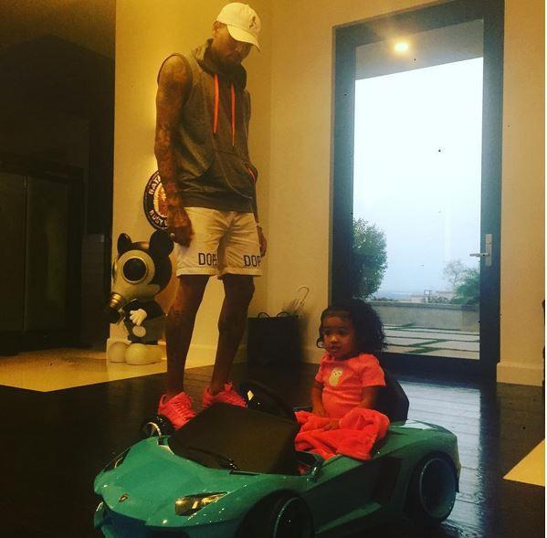 Chris Brown et sa fille Royalty