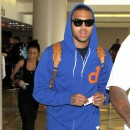 Chris Brown à l'aéroport de Los Angeles, le 9 août 2011.