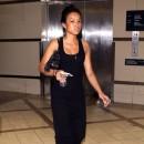 Karrueche Tran à l'aéroport de Los Angeles, le 9 août 2011.