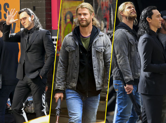 "Photos : Chris Hemsworth et Tom Hiddleston : duo de beaux gosses sur le tournage de ""Thor"""
