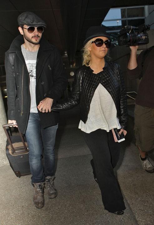 De retour à Los Angeles après son concert à Londres...