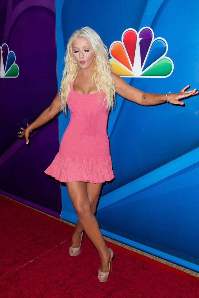 Christina Aguilera au Summer Television Critics Association Tour organisé à Beverly Hills le 27 juillet 2013