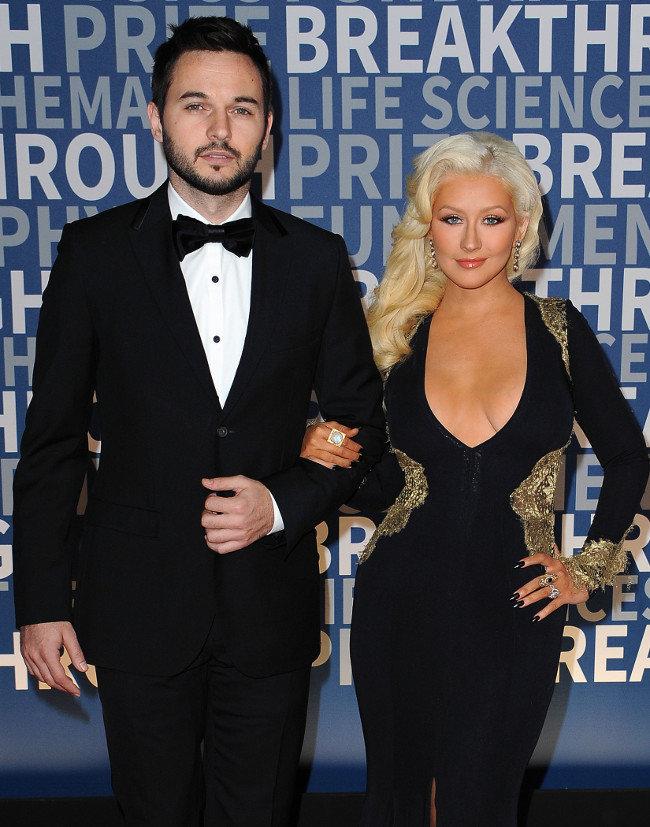 Matt Rutler et Christina Aguilera à Los Angeles le 8 novembre 2015