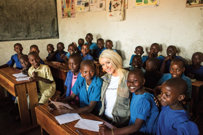 Christina Aguilera, ambassadrice de l'association World Hunger Relief depuis 2009