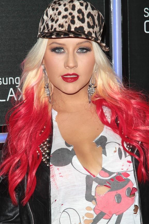 Christina Aguilera à la soirée de lancement du Galaxy Note II à Los Angeles le 25 octobre 2012