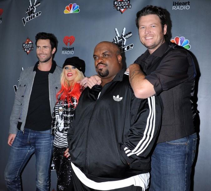 Christina Aguilera sur un tapis rouge de la saison 3 de The Voice le 8 novembre 2012 à Los Angeles