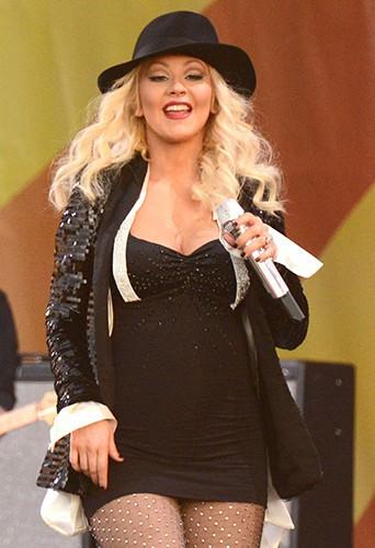 Christina Aguilera à la Nouvelle-Orléans le 2 mai 2014