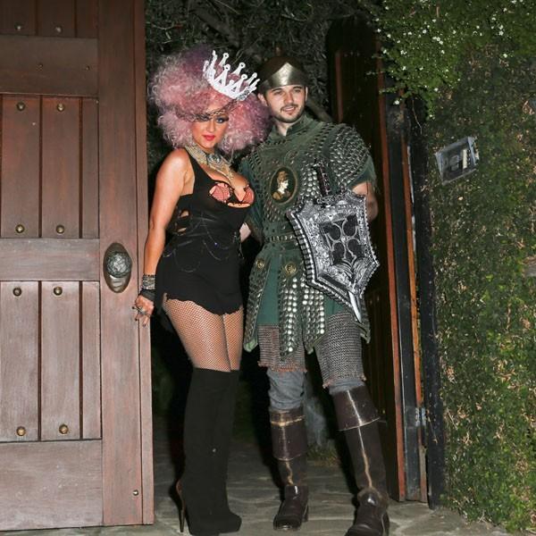 Christina Aguilera déguisée pour Halloween à Beverly Hills le 27 octobre 2012