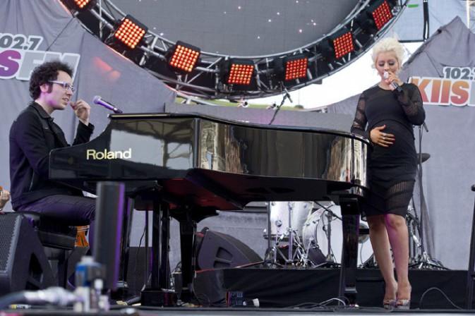 Christina Aguilera en concert à Los Angeles le 10 mai 2014