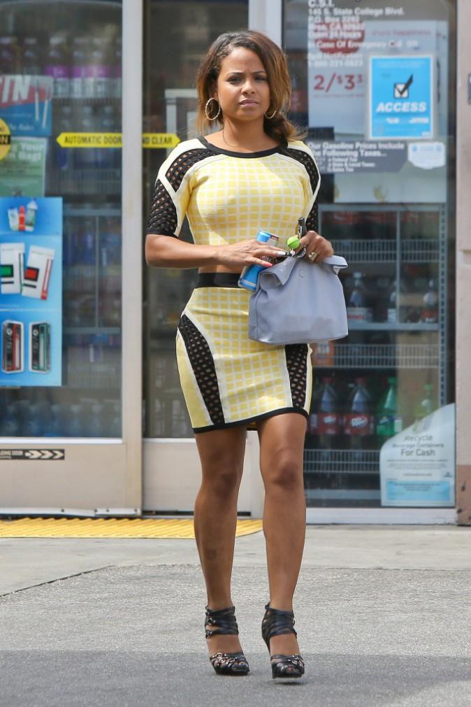 Christina Milian à Los Angees, le 30 juillet 2014