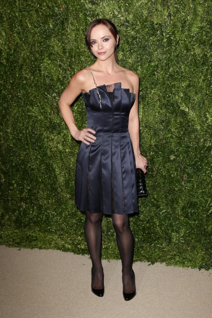 """Christina Ricci lors de la soirée """"CFDA/Vogue Fashion Fund Awards"""" à New York, le 11 novembre 2013."""