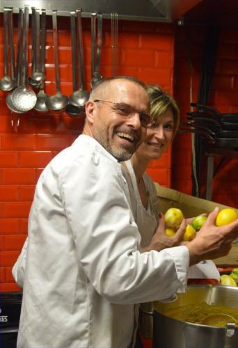 Christophe Leray et sa femme