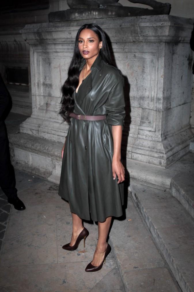Photos : Ciara : absolument captivante et envoûtante au défilé Lanvin !