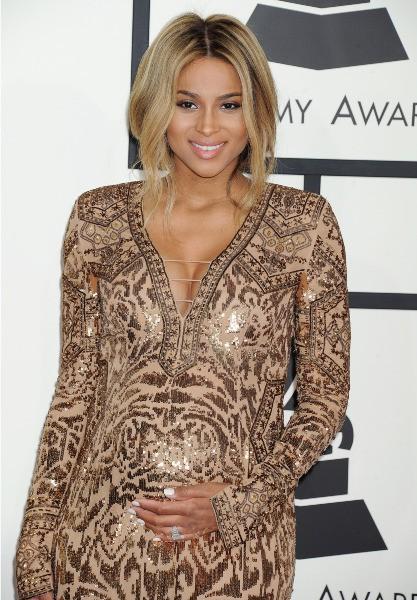 Ciara lors de la cérémonie des Grammy Awards, le 26 janvier 2014.