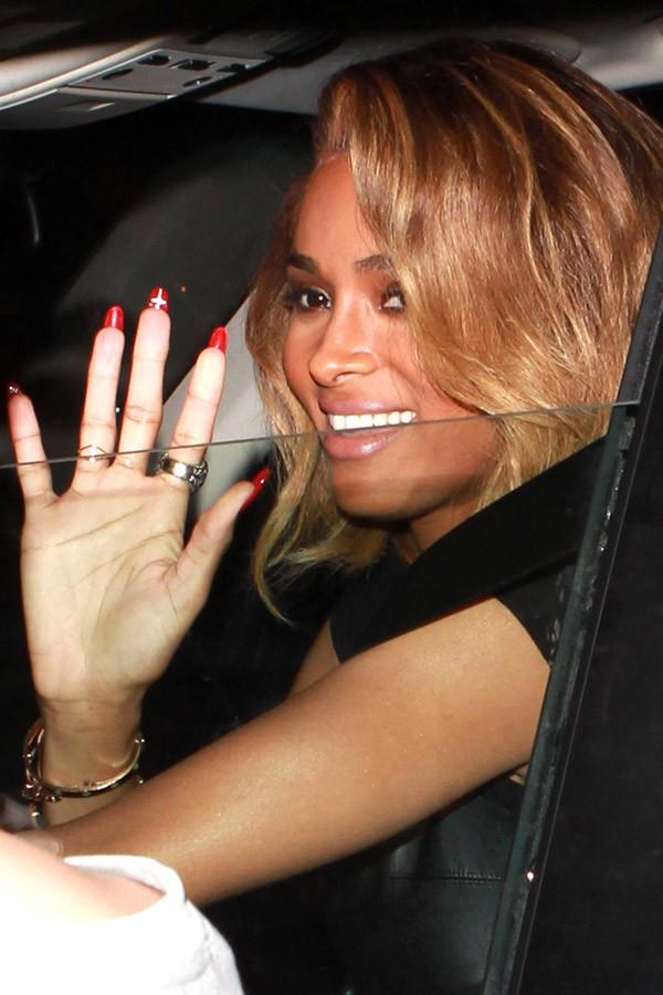 Ciara à sa sortie du restaurant Cecconi de Beverly Hills le 1er août 2013