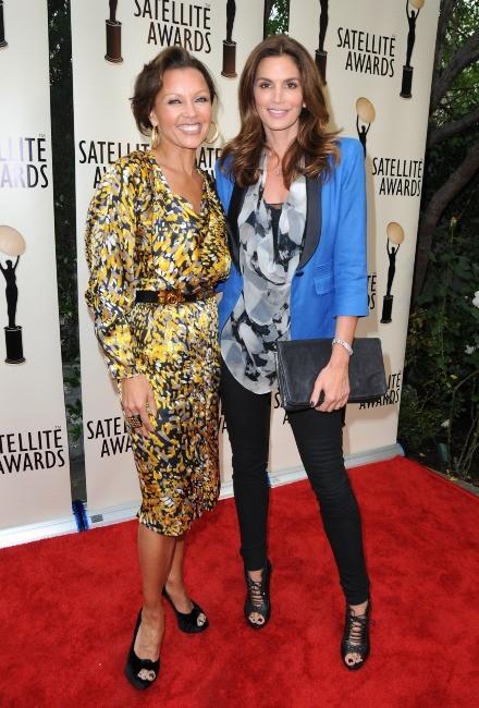 Vanessa Williams et Cindy Crawford à Los Angeles, le 2 mai 2012.