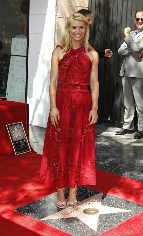 Photos : Claire Danes, divine et en famille pour recevoir son étoile sur le Walk of Fame !