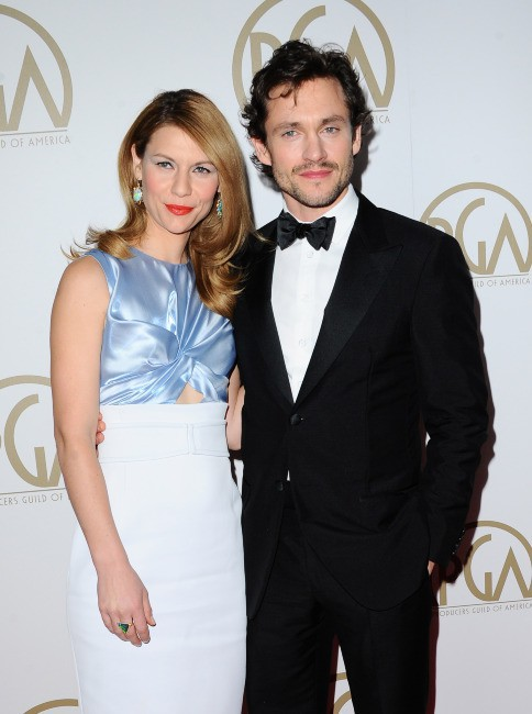 """Claire Danes et son mari Hugh Dancy lors des """"Producers Guild of America Awards"""" à Beverly Hills, le 19 janvier 2014."""