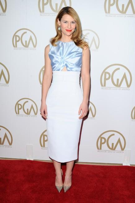 """Claire Danes lors des """"Producers Guild of America Awards"""" à Beverly Hills, le 19 janvier 2014."""