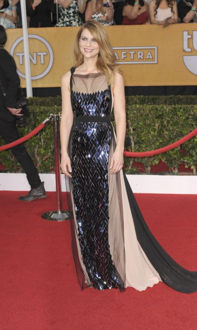 """Claire Danes lors des """"SAG Awards"""" à Los Angeles, le 19 janvier 2014."""