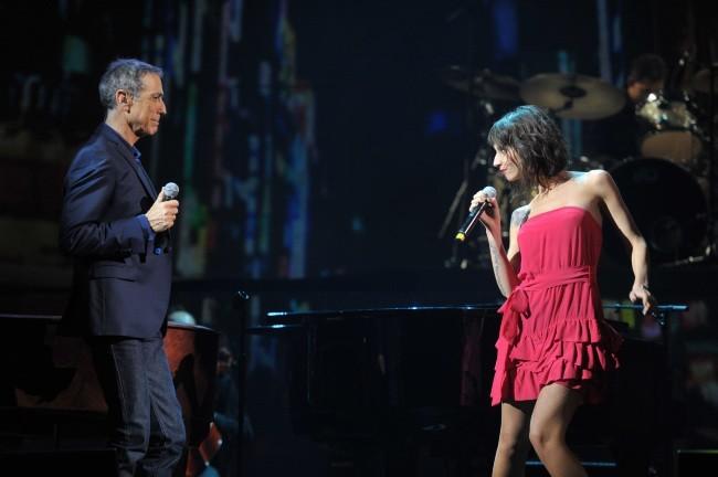 Alain Chamfort et Lucie le 30 janvier 2013 au Grand Rex, à Paris