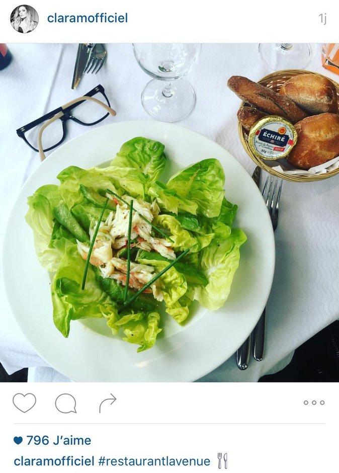 le repas light de Clara Morgane