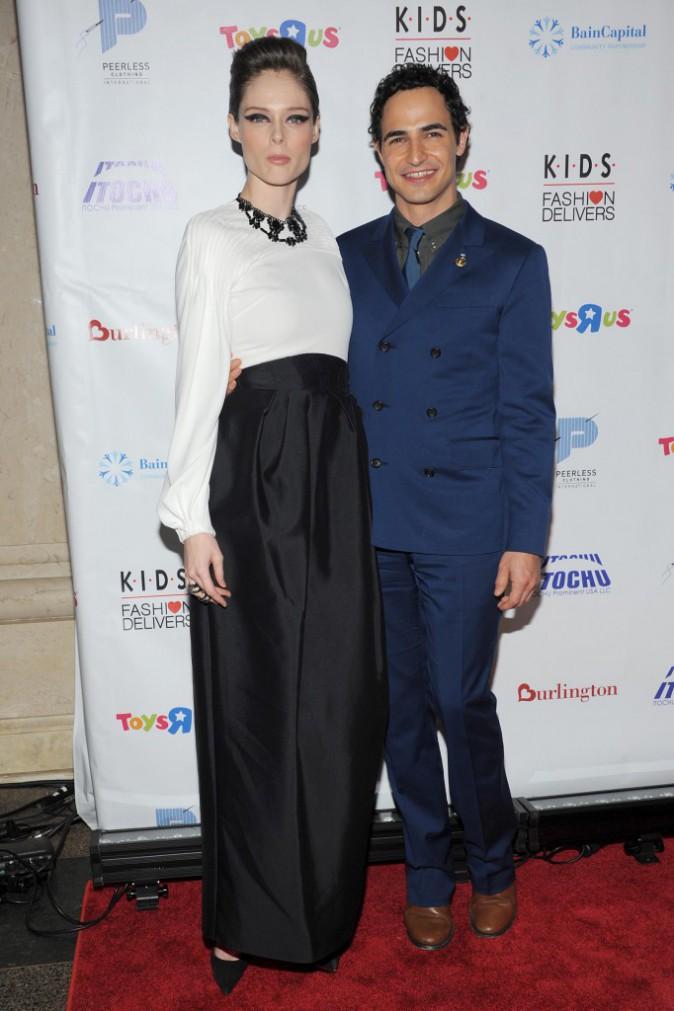 Coco Rocha et Zac Posen le 5 novembre 2014