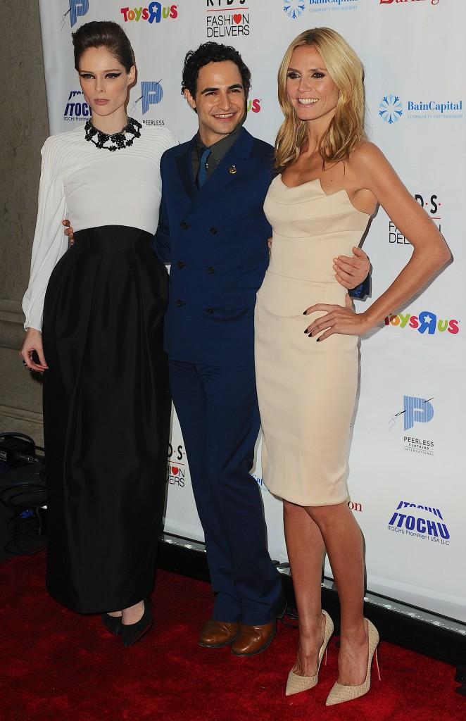 Coco Rocha, Heidi Klum et Zac Posen le 5 novembre 2014