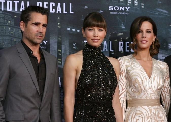 Colin Farrell, Jessica Biel et Kate Beckinsale le 13 août 2012 à Berlin