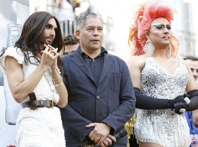 Conchita Wurst : après Londres, la gagnante de l'Eurovision poursuit sa tournée des gay-prides à Madrid !