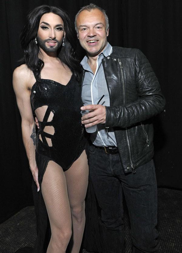 Conchita Wurst en concert à Londres le 24 mai 2014
