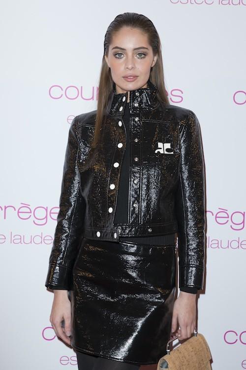 Marie-Ange Casta à la soirée Courrèges et Esthée Lauder à Paris le 7 mars 2015 !