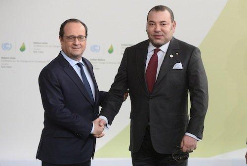 François Hollande et Mohamed VI (Maroc)