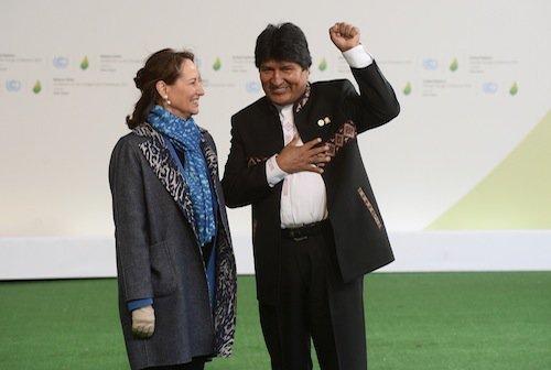 Ségolène Royal et Evo Morales (Bolivie)