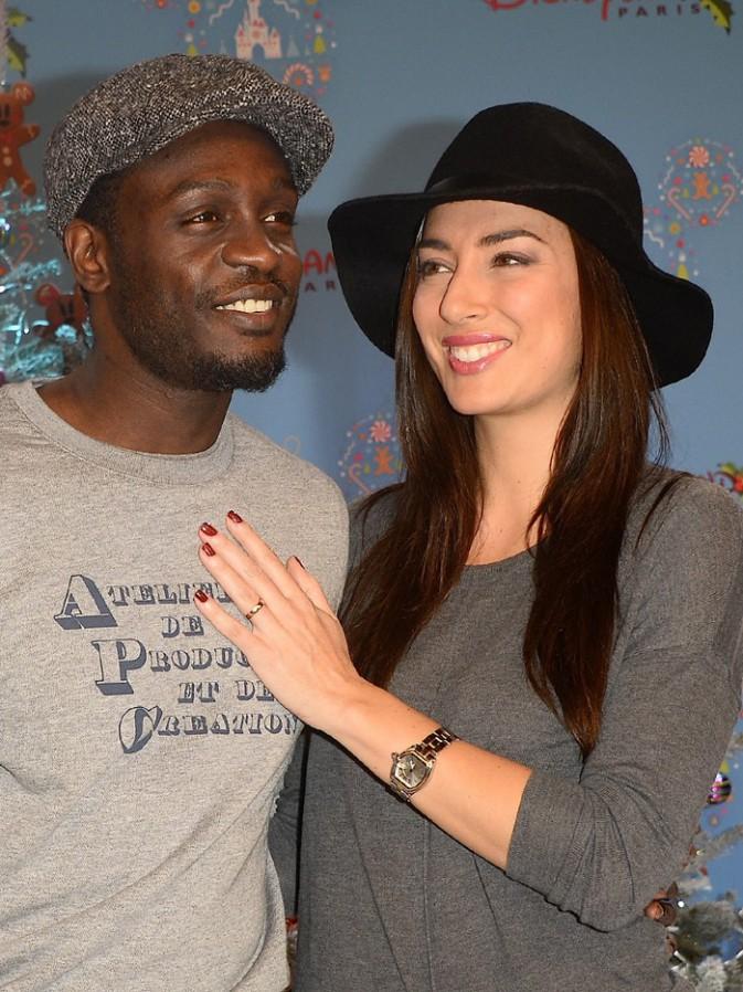 Corneille et sa femme Sofia à Disneyland Paris le 15 novembre 2014