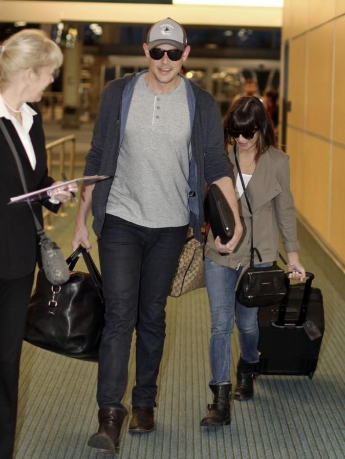 Cory Monteith et Lea Michele à l'aéroport de Vancouver le 4 mai 2013