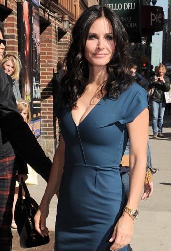 Courteney Cox à New York le 21 avril 2014