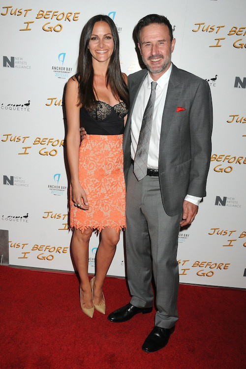 David Arquette et sa femme à la première de Just Before I Go avec Courteney Cox