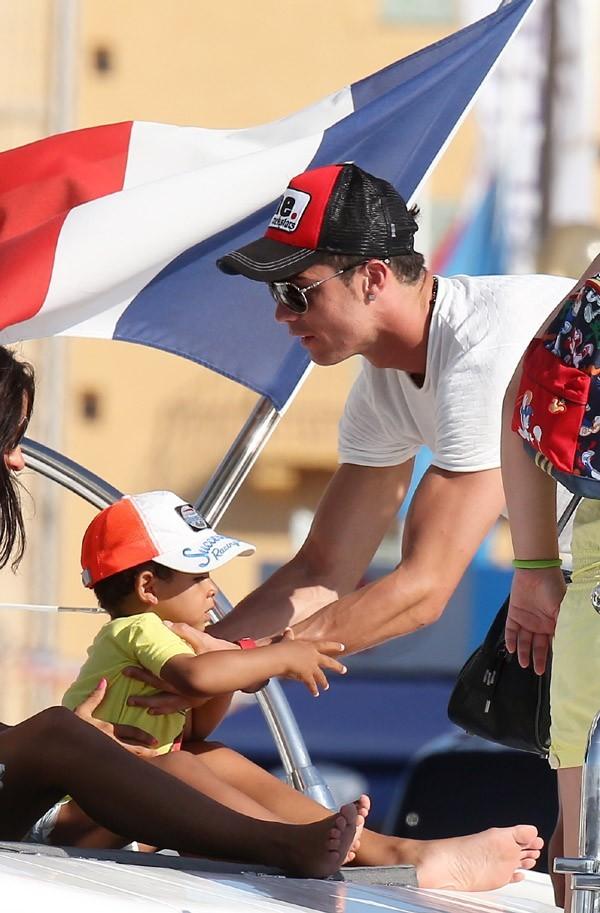 Cristiano Ronaldo à Saint Tropez le 3 juillet 2012