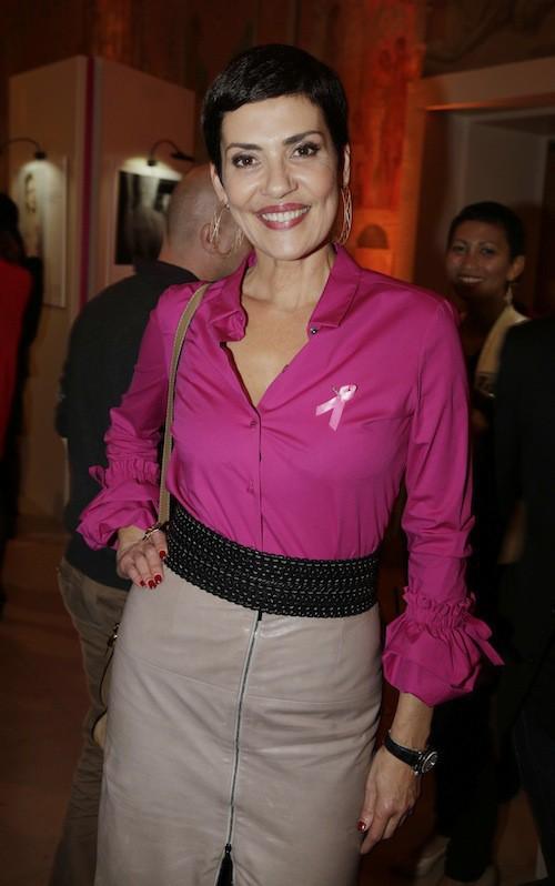 Cristina Cordula à la soirée Octobre rose à Paris, le 7 octobre 2014
